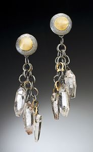 """Raspberry Quartz Earrings & Jacket""