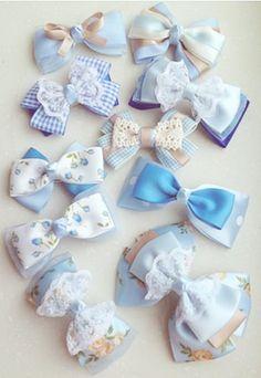 Diy Bow, Diy Ribbon, Fabric Ribbon, Ribbon Bows, Baby Girl Hair Clips, Baby Girl Hair Accessories, Handmade Hair Bows, Diy Hair Bows, Diy Baby Headbands