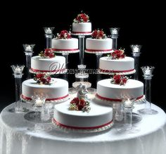 Amazing Tiered Wedding Cake Stands With Splendor Stands Are Manufactured Exclusively In The Usa By American 8 Tier Wedding Cakes, Floral Wedding Cakes, Wedding Cake Stands, Fall Wedding Cakes, Elegant Wedding Cakes, Beautiful Wedding Cakes, Wedding Cake Designs, Beautiful Cakes, Amazing Cakes
