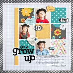 #papercraft #scrapbooking #layout    PageMaps - love the grid design of this
