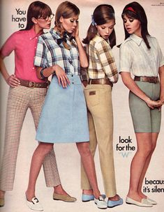 60s And 70s Fashion, Teen Fashion, Retro Fashion, Vintage Outfits, Vintage Jeans, Vintage Clothing, Colleen Corby, Evolution Of Fashion, 20th Century Fashion