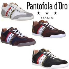 Pantofola D ORO Ascoli Piceno Mens Leather Trainers Black Size EU 40 45 | eBay