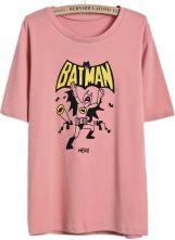 Pink+Short+Sleeve+BATMAN+Print+T-Shirt+US$9.99