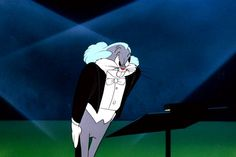 """Long-Haired Hare"", Looney Tunes  Bugs Bunny exacts revenge on an opera singer by posing as famed conductor Leopold Stokowski to take over the singer's concert. This cartoon features a number of classical pieces, including the famous sextet ""Chi Mi Frena In Tal Momento"" from Donizetti's Lucia di Lammermoor."
