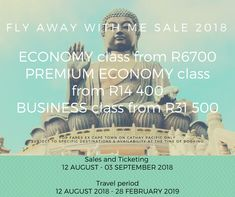 Flight Sale Now On! Hurry book fast while seats last. Flight Sale, Cathay Pacific, Business Class, Books, Travel, Libros, Viajes, Book, Trips