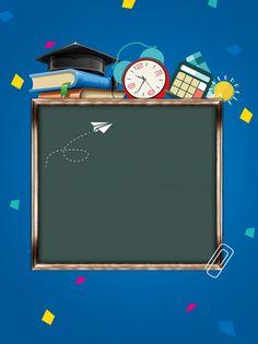 Blue Creative School Season Poster Background Design - New Site