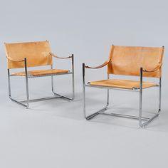 """KARMSTOLAR, ett par, """"Amiral"""", Karin Mobring, IKEA, 1970-tal."""