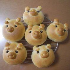 Cutest Food- pig bread