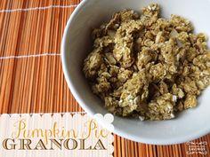 Pumpkin Pie Granola Recipe! Easy Snack or Dessert Recipe for Fall!: