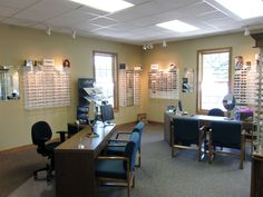 Optometry Interior Design | Optometry Office Design Wall display