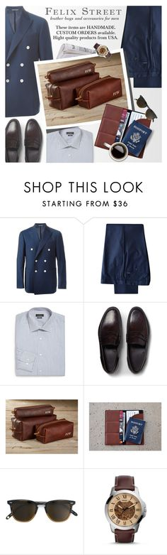 """""""FELIX STREET - Handmade leather bags & accessories for men"""" by an1ta on Polyvore featuring Canali, DKNY, Saks Fifth Avenue Collection, Brioni, FOSSIL, vintage, men's fashion and menswear"""