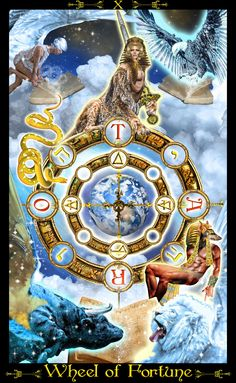 X - La roue de la fortune - Tarot Illuminati par Erik Dunne