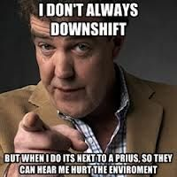 jeremy clarkson - Top Gear. Hate Prius'/ tree huggers