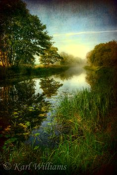 Morning mist on Forth and Clyde Canal, Hungryside, Kirkintilloch.