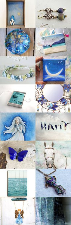 Door in The Magic Blue Night by Elena Doniy on Etsy--Pinned+with+TreasuryPin.com…