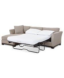 Fabric 2 Pc Sleeper Sofa Sectional