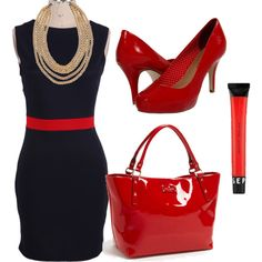 """""""red saturday"""" by ashmarie716 on Polyvore"""