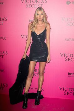 All the Looks from the Victoria's Secret Fashion Show After Party Elsa Hosk looked amazing!