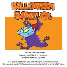 Here's a sampling of 8 images from my Halloween collections plus an original Halloween invitation.Each image comes infill color and black and white line art in PNG, JPG and EPS vector formats.And if you like these, you might also be interested in my other Halloween clipart.Halloween Cartoon Clipart Vol. 1Halloween Cartoon Clipart Vol. 2  Halloween Cartoon Clipart Vol. 3  Halloween Cartoon Clipart Vol. 4  Halloween Icons Cartoon Clipart  Halloween Invitations Cartoon Clipart Halloween Signs…