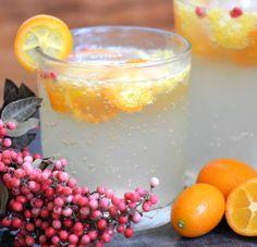 Kumquat and Pink Pepper Spritzer-- wanna try!