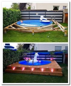 these spots you can put your swimming pool in the right place and can . With these spots you can put your swimming pool in the right place and can . With these spots you can put your swimming pool in the right place and can . Piscina Diy, Diy Swimming Pool, Diy Pool, Kiddie Pool, Pool Pool, Backyard Pool Designs, Modern Backyard, Diy Backyard Ideas, Backyard Decks
