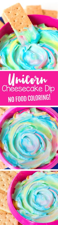This beautiful rainbow unicorn dip might be the most magical thing I've ever made.