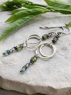 Love's Story Earrings - Apatite & Peridot