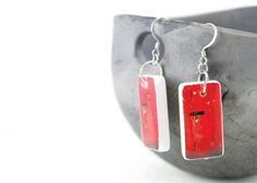 Locked In - Petite Domino Tile Earrings (AKB-06-04). $15.00, via Etsy.    Made By and Photo Taken by Amar Bhuee of Melting Artist Designs www.meltingartistdesigns.etsy.com  http://www.facebook.com/pages/Melting-Artist-Designs-By-Amar-Bhuee/168092213303220?ref=hl