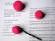 Barrette Macaron à la Fraise  Handmade with Love by Lolitadlachance  Sold here : http://fr.dawanda.com/product/15362574-Barrette-Macaron-a-la-Fraise#