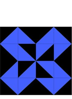 crazyquilters: Black and Blue Colorado Beauty Block