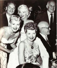 Betty Grable, Marilyn Monroe, and Lucille Ball at Walter Winchell's Birthday Party at Ciro's on May 13, 1953