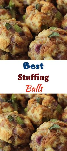 Best Stuffing Balls – My Recipes Dressing Balls Recipe, Thanksgiving Recipes, Holiday Recipes, Family Recipes, Thanksgiving Stuffing, Thanksgiving 2020, Holiday Meals, Stuffing Balls Recipe, Turkey Stuffing Recipes