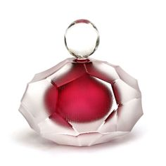 FIRST Glass Beehive Scent Bottle Ruby Glass £ * Enquire about this work - This reminds me of a heart on ice. It's beautiful. Bottles And Jars, Glass Bottles, Vases, Genie In A Bottle, Antique Perfume Bottles, Beautiful Perfume, Bottle Design, Glass Art, Decoration