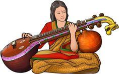 saraswati veena player