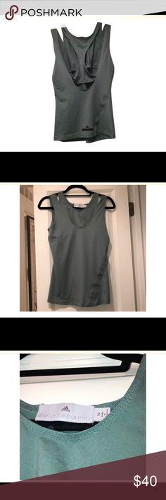 d7889ff9b55 Stella McCartney tank Cool workout top ! Color is a dark sea foam green Has  an