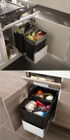 A range of sponges: practical, functional, discreet, space saving … A storage trick to put aside for a small kitchen!