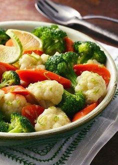 Steamed Vegetables with Chile-Lime Butter