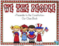 Rockin' Teacher Materials: We the People - Constitution Class Book FREEBIE! For Constitution Day! Kindergarten Social Studies, Social Studies Activities, Teaching Social Studies, Teaching Tools, Teaching Resources, Teaching Ideas, Teaching History, Primary Resources, History Education