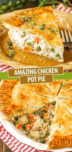 Easy Pie Recipes, Easy Chicken Recipes, Cooking Recipes, Easy Pot Pie Crust Recipe, Savoury Recipes, Healthy Chicken, Turkey Recipes, Cooking Ideas, Dinner Recipes