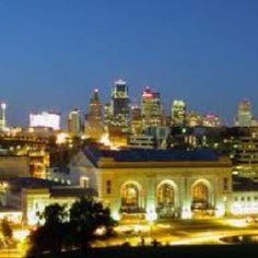 Union station and downtown Kansas City Mo.