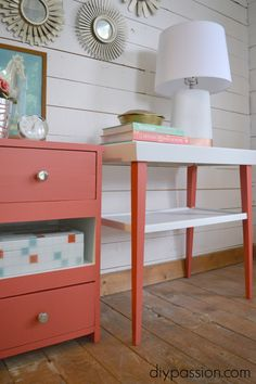 Make end tables match using paint!