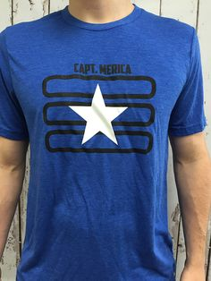 Captain Merica - Short Sleeve Shirt. Perfect for showing American pride for a Memorial Day Parade or July 4th party.