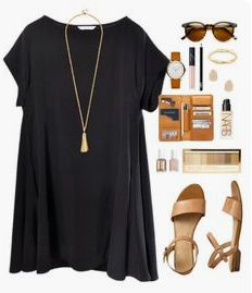 swing dress by classically-preppy! I already have these sandals and a similar necklace-- I'd love a swing dress like this. Robe Swing, Swing Dress, Kendra Scott, Mode Outfits, Casual Outfits, Casual Dresses, Mode Style, Style Me, Spring Summer Fashion