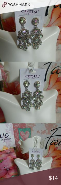 Chandelier crystal  tornasol earrings It's party time! Dress simple and add the luxor with this pair of silver and crystal earring absolutly beautiful Jewelry Earrings