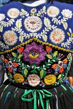Traditional costume of Minho - Portugal - lovely colorful embroidery! by chasity