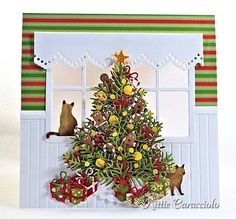 KC Impression Obsession Bare Christmas Tree 1 Instructions for see thru window card 9/25/13 blog