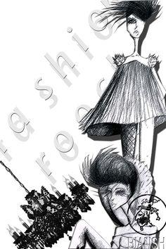 Black an withe, fashion rock..by Bianshi