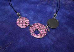 Et voilà quelques bijoux que j'ai réalisé à partir de ces canes mosaïque