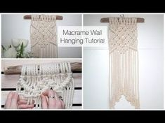 How To Make A Macrame Wall Hanging Tutorial (For Beginners), My Crafts and DIY Projects
