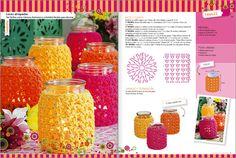 Idea: souvenirs con frascos al crochet / crocheted jar souvenirs | Tejido Facil